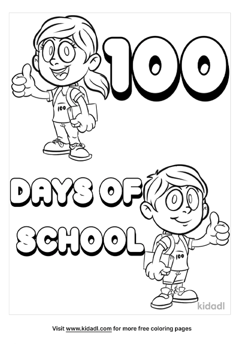 100 Days Of School Coloring Pages Free Words & Quotes Coloring Pages  Kidadl