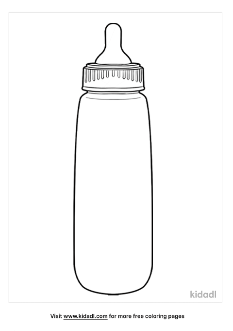 Baby Bottle Coloring Pages Free At Home Coloring Pages Kidadl