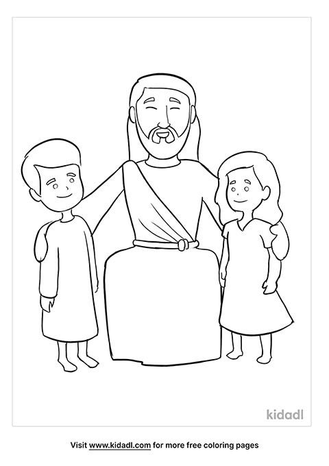 Jesus Loves The Little Children Coloring Pages Free Bible Coloring Pages  Kidadl