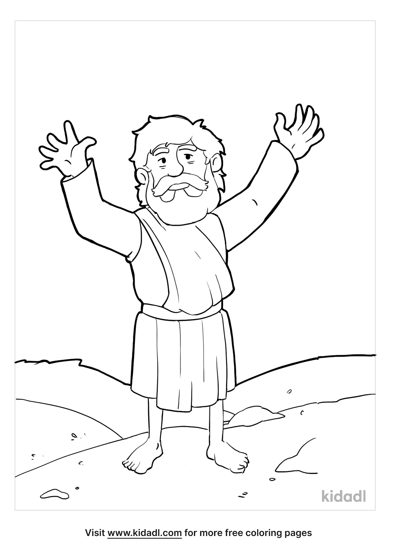 John The Baptist Coloring Pages Free Bible Coloring Pages Kidadl