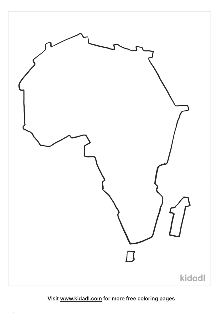 Africa Coloring Pages Free World Geography Flags Coloring Pages Kidadl