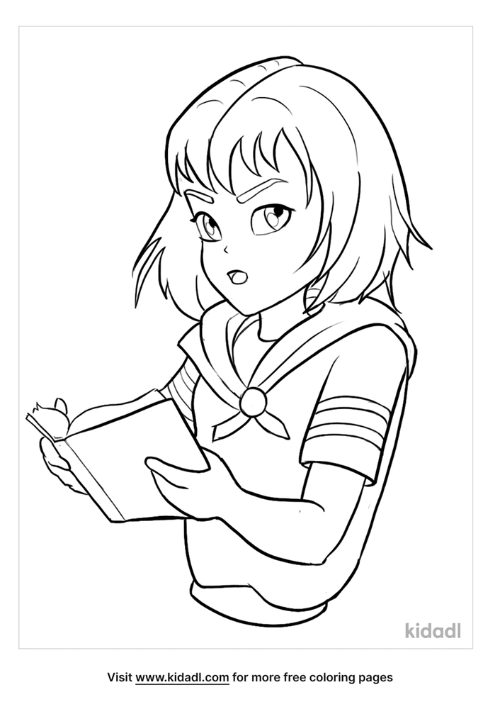 Anime Girl Coloring Pages Free Cartoons Coloring Pages Kidadl