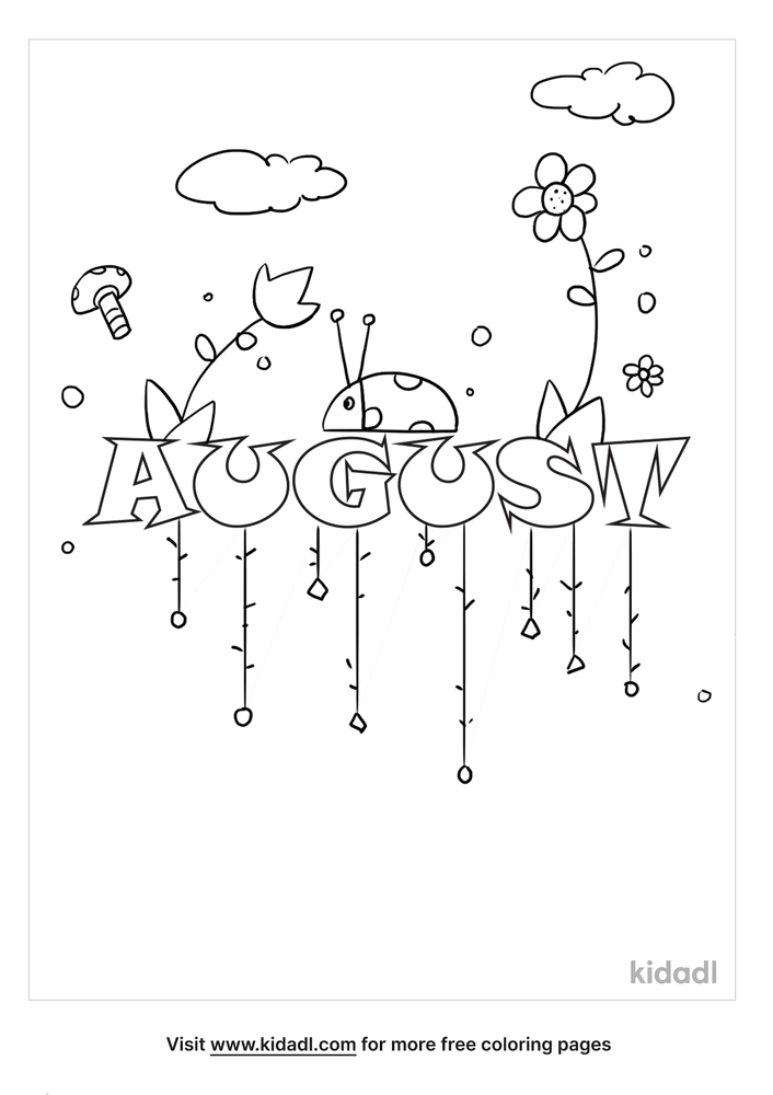 August Coloring Pages Free Words Quotes Coloring Pages Kidadl