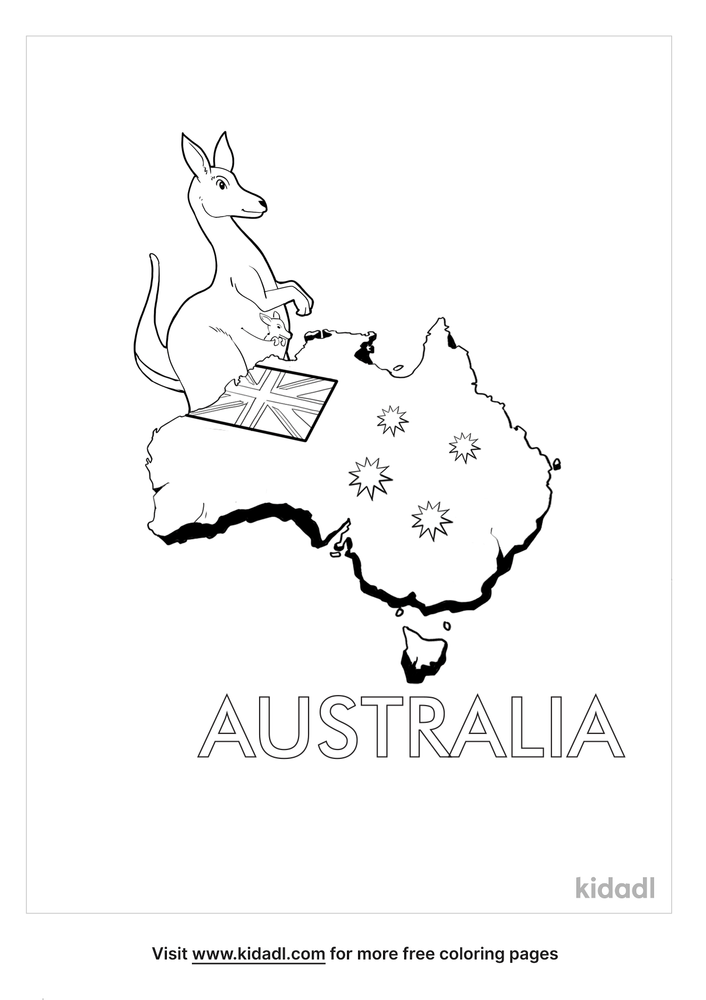 Australia Coloring Pages Free World Geography Flags Coloring Pages Kidadl