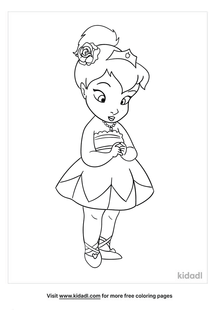 Baby Princess Coloring Pages Free Princess Coloring Pages Kidadl