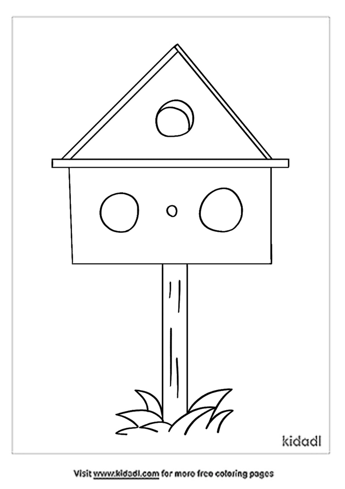 Birdhouse Coloring Pages Free Outdoor Coloring Pages Kidadl