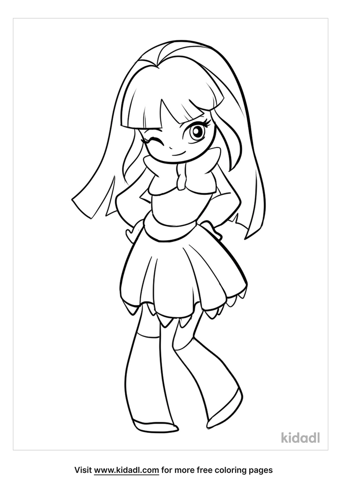 Chibi Coloring Pages Free Cartoons Coloring Pages Kidadl