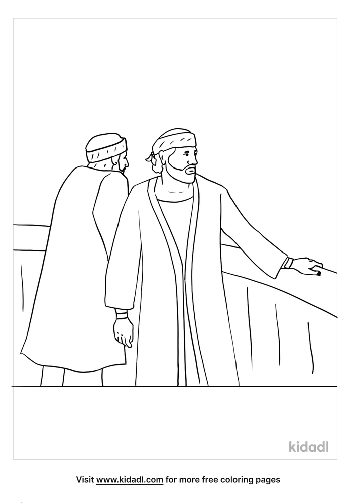 Paul And Barnabas Coloring Pages Free Bible Coloring Pages Kidadl