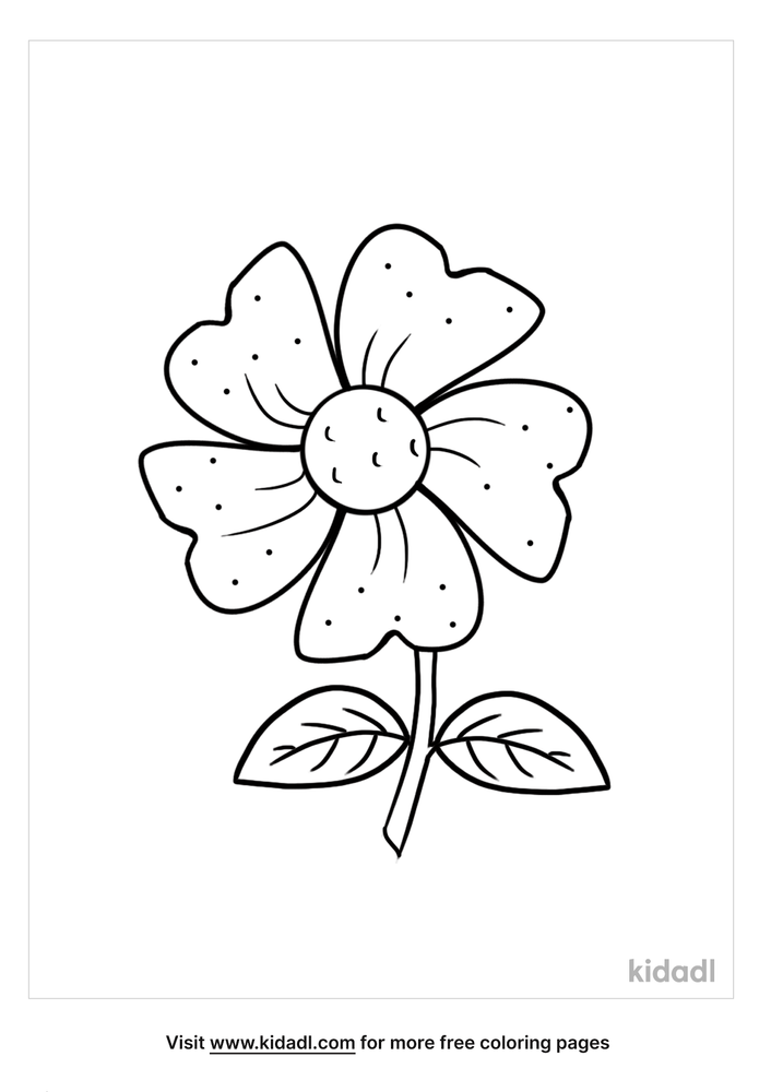 Simple Flower Coloring Pages Free Flowers Coloring Pages Kidadl