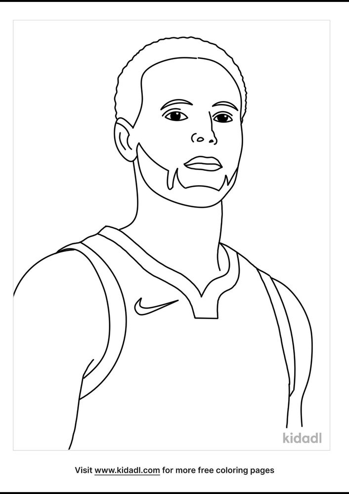 Stephen Curry Coloring Pages Free People Coloring Pages Kidadl