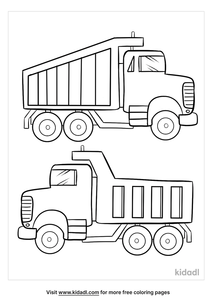 Truck Coloring Pages Free Vehicles Coloring Pages Kidadl