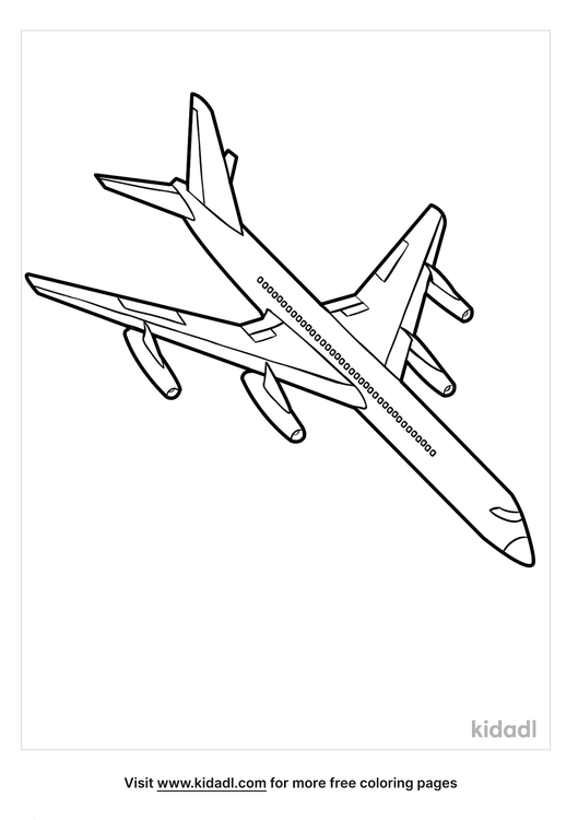 Airplane Coloring Pages Free Vehicles Coloring Pages Kidadl