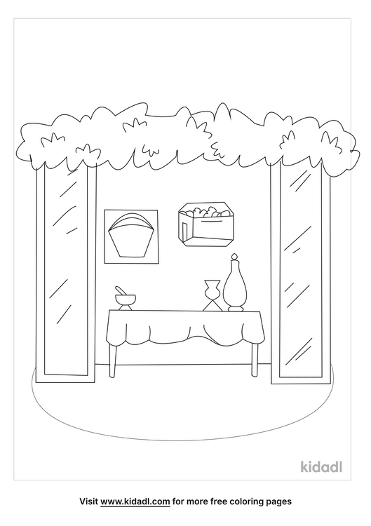 Sukkah Coloring Pages Free Torah Coloring Pages Kidadl