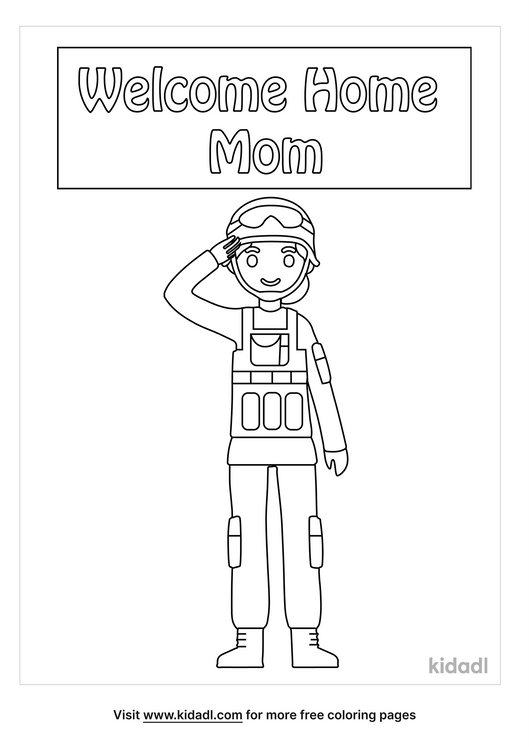 Welcome Home Military Mom Coloring Pages Free Words Quotes Coloring Pages Kidadl