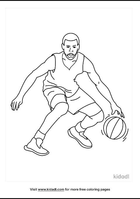 Stephen Curry Coloring Page Free People Coloring Pages Kidadl